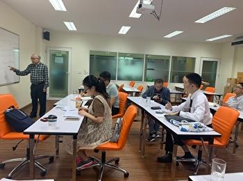 บรรยากาศการเรียนการสอนในห้องเรียนของนักศึกษาจีน ของหลักสูตรปรัชญาดุษฎีบัณฑิต สาขาวิชานวัตกรรมการจัดการ